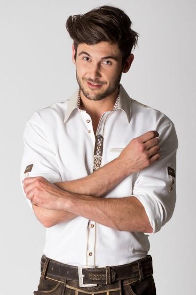 Trachtenhemd Alfons, weiß