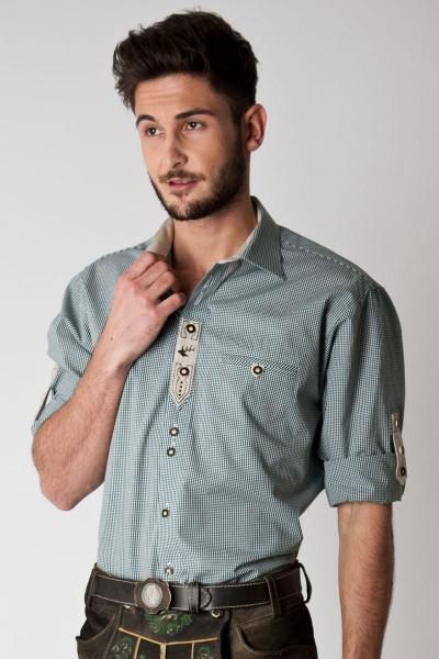 Trachten Hemd Tom, grün weiß