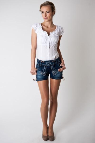 Trachtenhose Nicoletta Jeans kurz, blau