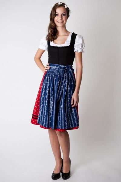Dirndl Mirabelle, schwarz/rot/blau