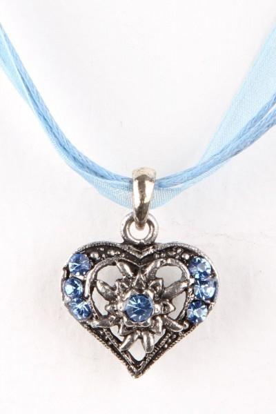 Trachtenkette Kleines Herz, meerblau
