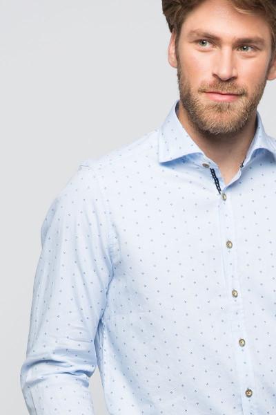 Trachtenhemd Maxim, hellblau