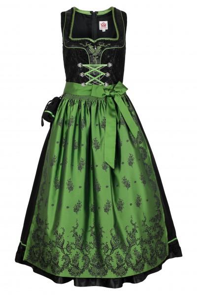 Trachten Dirndl Mary, schwarz/grün