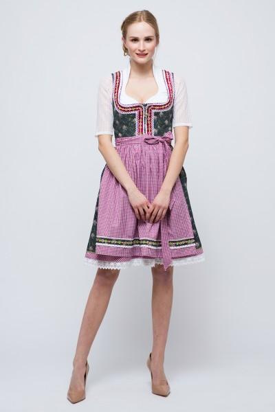 Mini Dirndl Tamina, dunkelgrau/beere