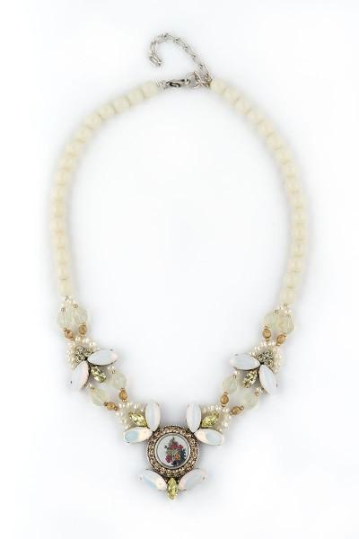Trachten Halskette Dornröschen, weiß