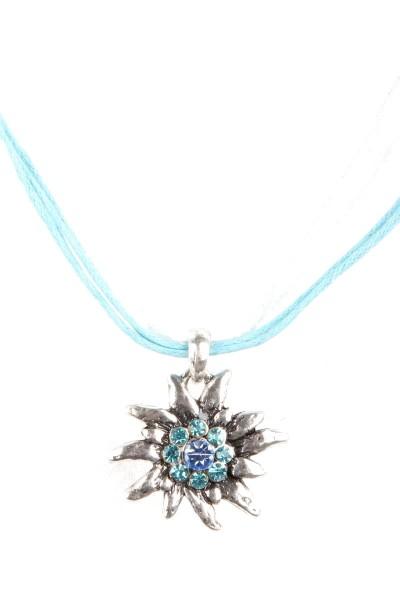 Trachtenkette Edelweiß II, hellblau