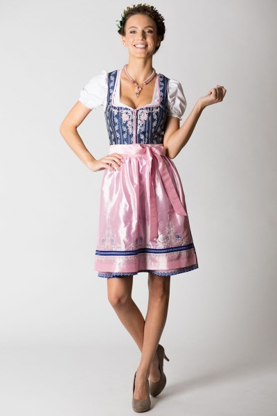 Mini Dirndl Adina, blau/rosa