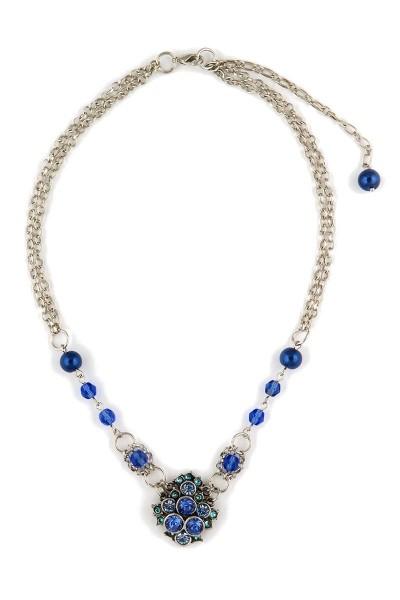 Trachten Halskette Trachtentraum, blau
