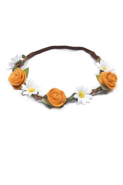 Trachten Haarband Blütentanz, orange
