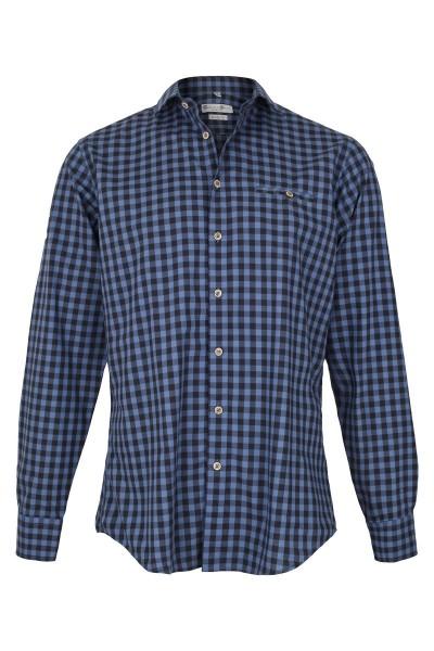 Trachtenhemd Lenny, blau/navy