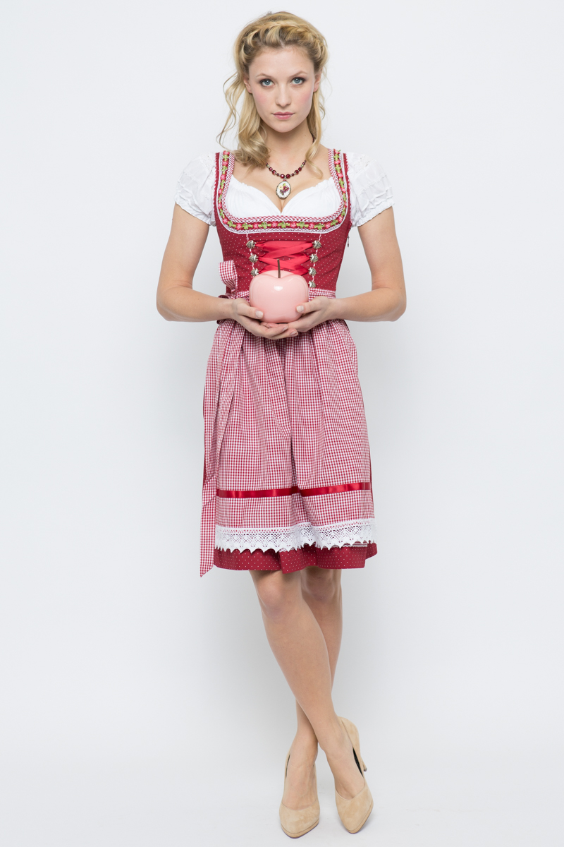 mini dirndl germa rot marjo online bestellen. Black Bedroom Furniture Sets. Home Design Ideas