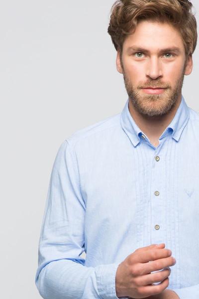Trachtenhemd Jona, hellblau