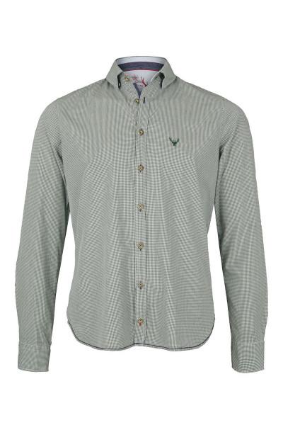 Trachtenhemd PURE slimfit, grün/karo