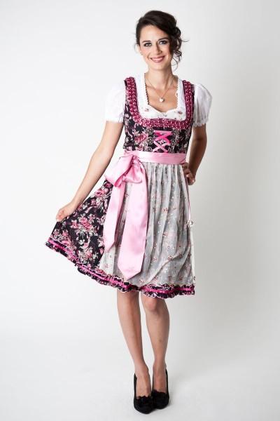 Dirndl Marissa, schwarz/pink