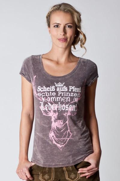 Damen Trachten Shirt Lucy, hellgrau
