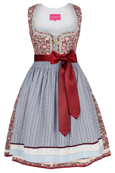 Mini Dirndl Rahel, bordeaux