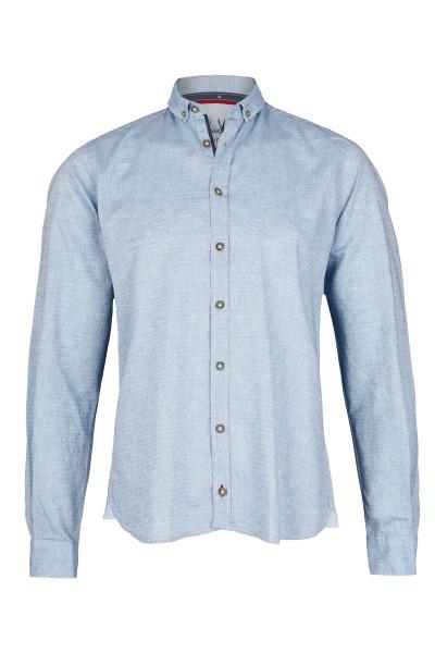 Trachtenhemd PURE, uni hellblau