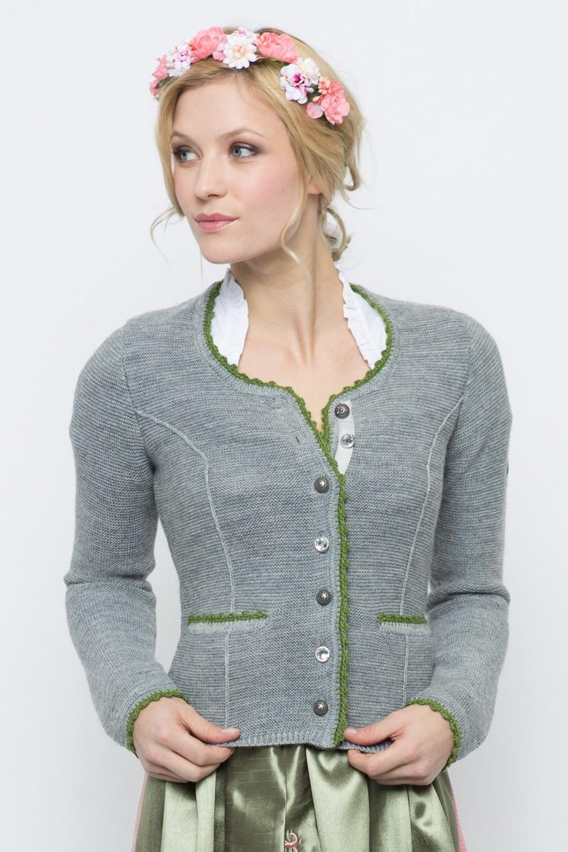 Jacken für Frauen - Trachtenstrickjacke Baltik, grau  - Onlineshop Moser Trachten