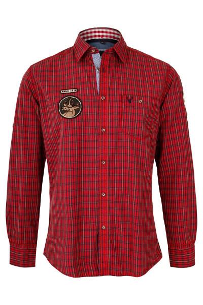 Trachtenhemd Albert, rot