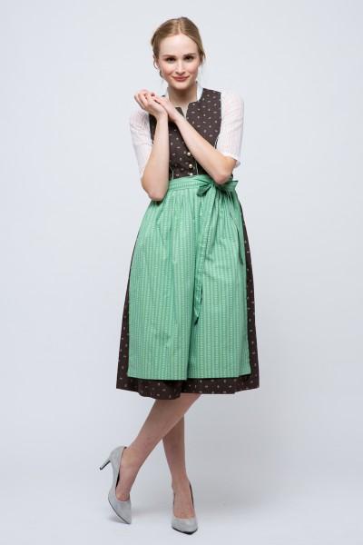 Mini Dirndl Heidemarie, braun/grün