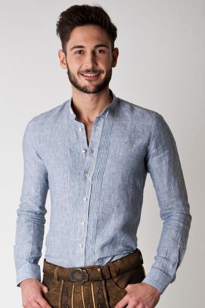 Trachten Hemd Manuel, dunkelblau