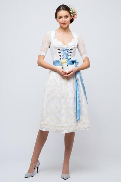 Hochzeitsdirndl Catherina, blau/creme