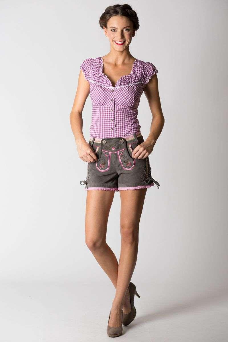 Lederhose Judy, grau rosa   Krüger   online bestellen 89cbd08c2a