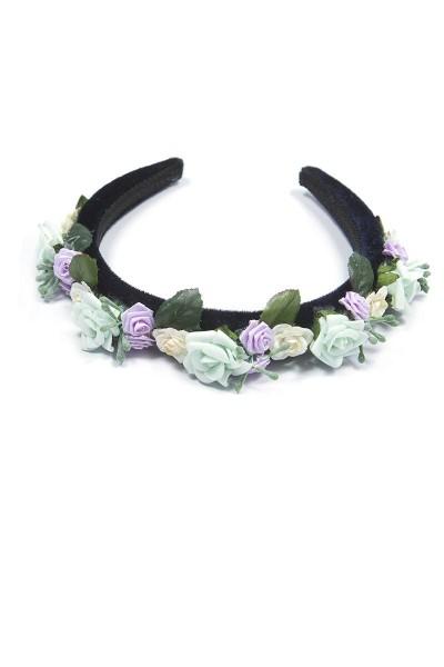 Trachtenhaarreif Blütenpracht, mint/violett