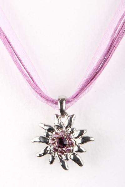 Trachtenkette Edelweiß II, lila