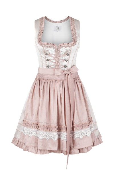 Trachten Dirndl Chiara beige/rosa