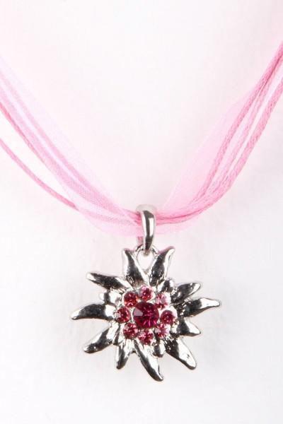 Trachtenkette Edelweiß II, rosa