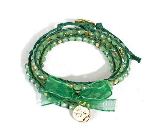"""Trachten Wickelarmband """"Hirscherl"""", grün"""
