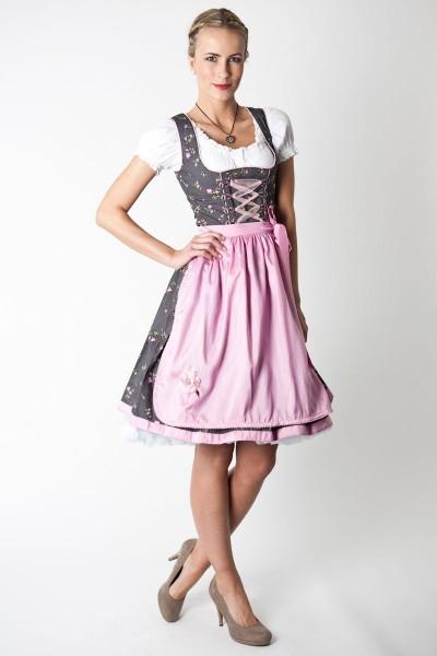 Dirndl Carina, schwarz/rosa