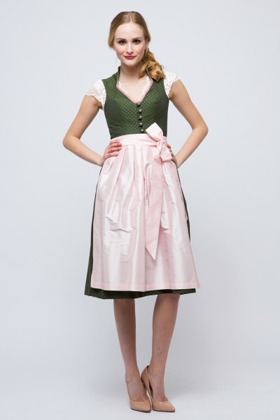 Midi Dirndl Paula, grün/rosa